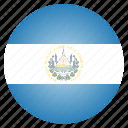 country, el, flag, national, salvador icon