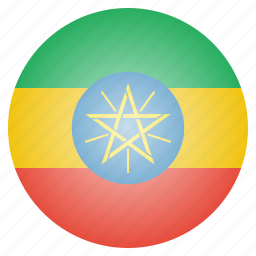 country, ethiopia, ethiopian, flag, national icon