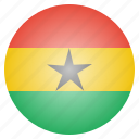 country, flag, ghana, national icon