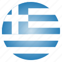 country, flag, greece, greek, national icon