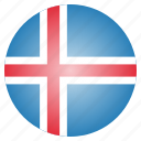 country, flag, iceland, national