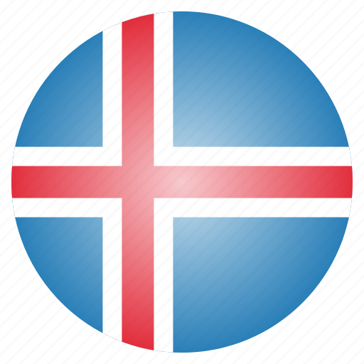 country, flag, iceland, national icon