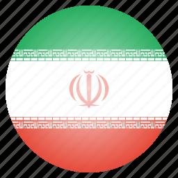 country, flag, iran, iranian, national icon