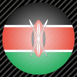 country, flag, kenya, kenyan, national icon