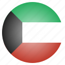 country, flag, kuwait, national