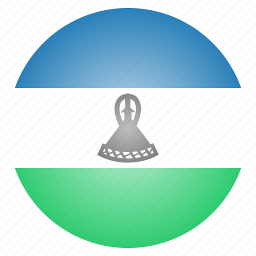 country, flag, lesotho, national icon