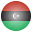 country, flag, libya, libyan, national icon