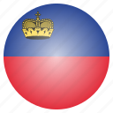 country, flag, liechtenstein, national icon