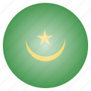 country, flag, mauritania, national