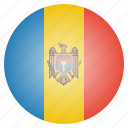 country, flag, moldova, moldovan, national icon