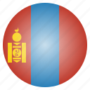country, flag, mongolia, mongolian, national icon