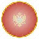 country, flag, montenegro, national