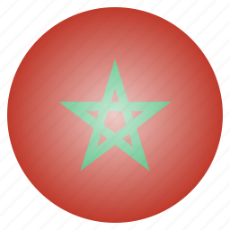country, flag, morocco, national icon