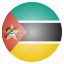 country, flag, mozambique, national icon