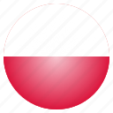 country, flag, national, poland, polish icon