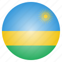 country, flag, national, rwanda