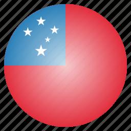 country, flag, national, samoa icon