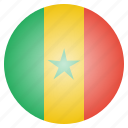 country, flag, national, senegal