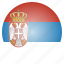 country, flag, national, serbia, serbian icon