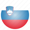 country, flag, national, slovenia, slovenian icon