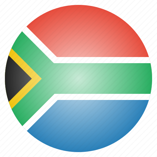 africa, african, country, flag, national, south icon