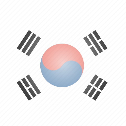 country, flag, korea, korean, national, south icon