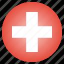 country, flag, national, swiss, switzerland