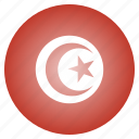 country, flag, national, tunisia, tunisian icon