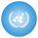 circle, flag, nations, un, united icon