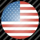 america, circle, flag, states, united, usa