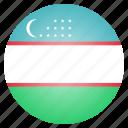 country, flag, national, uzbekistan