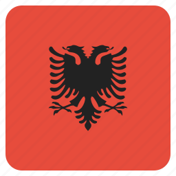 albania, albanian, country, flag, national icon