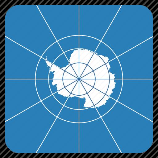 antarctic, antarctica, circle, flag, treaty icon