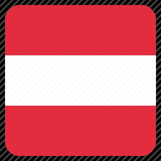 austria, austrian, country, flag, national icon