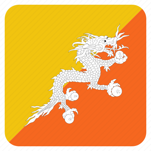 bhutan, bhutanese, country, flag icon