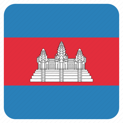 cambodia, cambodian, country, flag icon