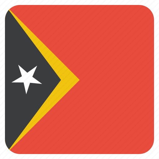 country, east, flag, national, timor icon