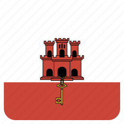 country, flag, gibraltar, national icon