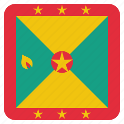 country, flag, grenada, national icon
