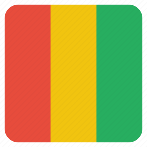 country, flag, guinea, guinean, national icon
