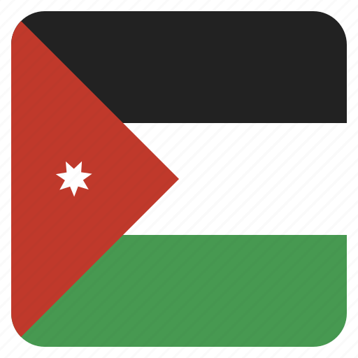 country, flag, jordan, national icon