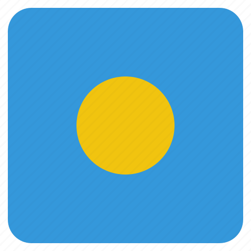 country, flag, national, palau icon