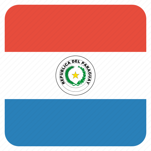 country, flag, national, paraguay icon