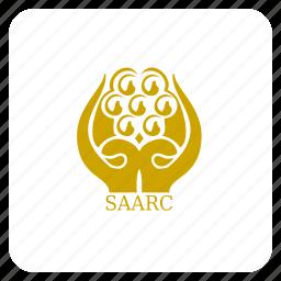 asian, flag, saarc, south east icon
