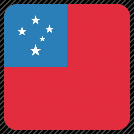 country, flag, national, samoa, samoan icon