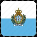 country, flag, marino, national, san