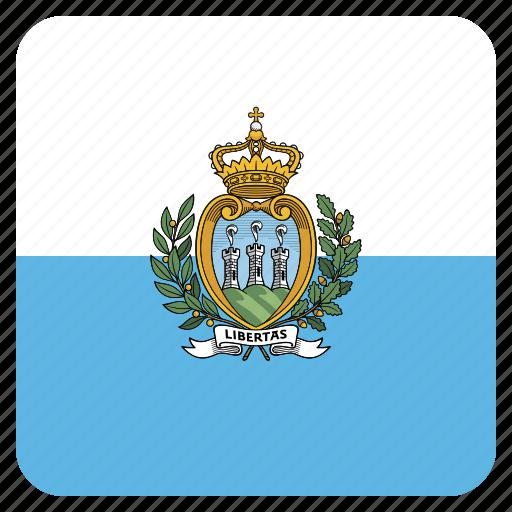 country, flag, marino, national, san icon