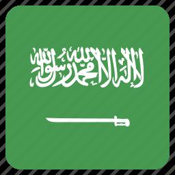 arabia, arabian, country, flag, national, saudi icon