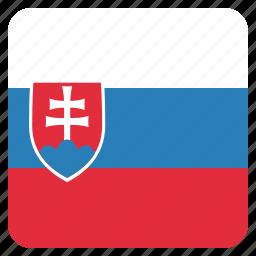 country, flag, national, slovakia, slovakian icon