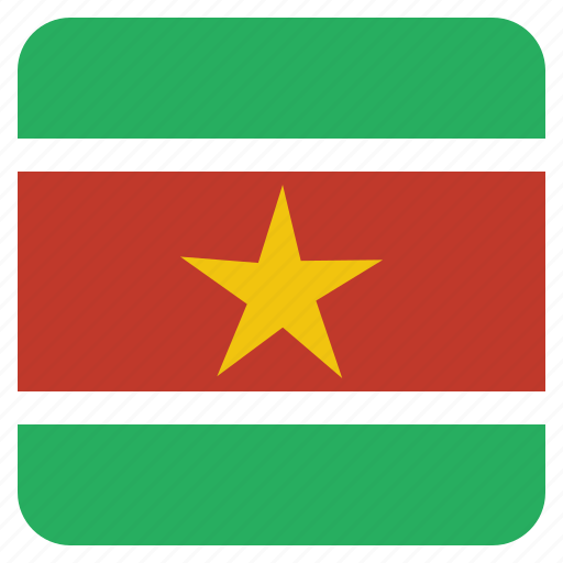 country, flag, national, suriname icon